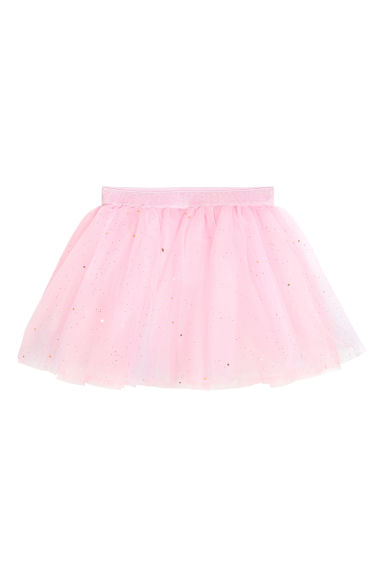 Tulle skirt - Light pink/Glittery - Kids | H&M